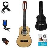 Stretton Payne Konzertgitarre für Kinder, Klassisches Gitarrenpaket, 1/4 Größe (31 Zoll), Alter 3 bis 6, Klassische...