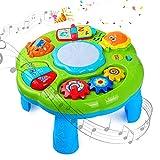 STOTOY Musical Spieltisch Babyspielzeug 2 in 1 Früherziehung Musikspielzeug, Baby Tisch Musiktisch für Kleinkinder Kleinkind Jungen...