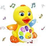 MOONTOY Tanzendes Musik Spielzeug - Musikalisches Lehrreiches Spielzeug für Mädchen Jungen - Tanzspaß Ente Interaktives Baby Spielzeug...