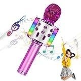Mikrofone für Kinder Drahtloses Bluetooth-Mikrofon, tragbares Handheld-Spielzeug-Karaoke-Mikrofon-Lautsprecher, Home-KTV-Player mit...
