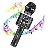 FISHOAKY Karaoke Mikrofon für Kinder - Drahtloses Bluetooth Mikrofon - mit Lautsprecher und Aufnahmefunktion