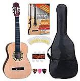 Classic Cantabile AS-861 Konzertgitarre 3/4 Starter-SET (akustische Klassikgitarre, geeignet für Kinder ab 8-11 Jahren, Tasche, Saiten,...