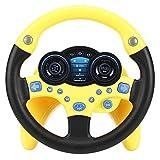 Zerodis Lenkrad Spielzeug Beifahrer Auto Spielzeug mit Musik und Licht Kind Kinder Fahren Lernspielzeug Musikalische Ausbildung Geschenk...