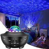 LED Sternenhimmel Projektor, Galaxy Light Sternenlicht Projektor mit 360°Drehen Ozeanwellen/Bluetooth Musikspieler/Fernbedienung/Timer...