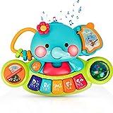 EastSun Früherziehendes Musik-Elefanten-Spielzeug für 6 Monate alte Babys.