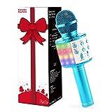 Fede Karaoke Mikrofon, Drahtloses Bluetooth Mikrofon für Kinder, Lustige Geschenke Spielzeug für Teenager Mädchen Jungen, Tragbares KTV...