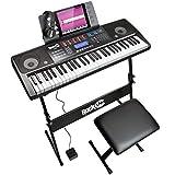 RockJam 61 Tastatur Klaviersatz 61 Schlüssel-Digital-Piano Keyboardbank Keyboardständer Kopfhörer Sustain-Pedal und einfach Klavier...