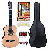 Classic Cantabile AS-861 Konzertgitarre 7/8 Starter-SET (akustische Klassikgitarre, geeignet für Kinder ab 10-13 Jahren, Tasche, Saiten,...