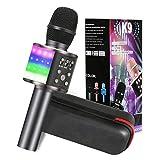 Karaoke Mikrofon, GLIME 5-in-1 Bluetooth Karaoke Mikrofon mit Tanzen LED Lichter, KTV Mikrophon mit Musik Lautsprecher für Erwachsene,...